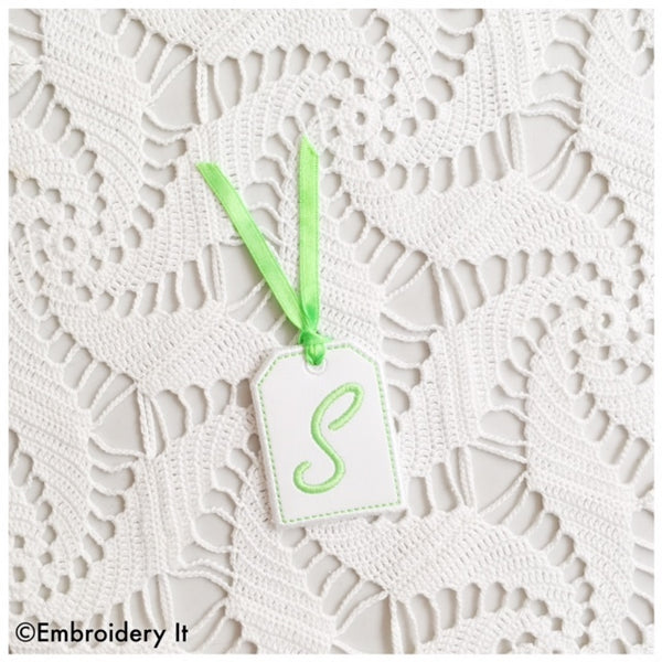 machine embroidery in the hoop tag alphabet