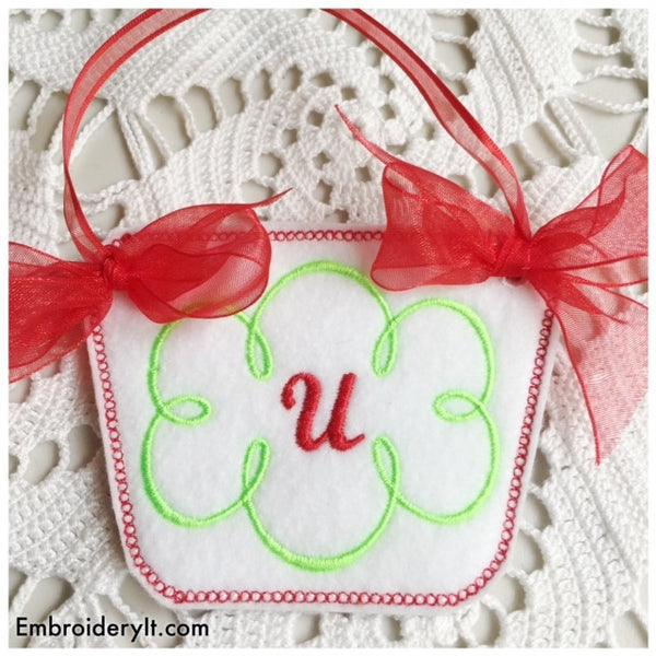 machine embroidery in the hoop monogram basket alphabet
