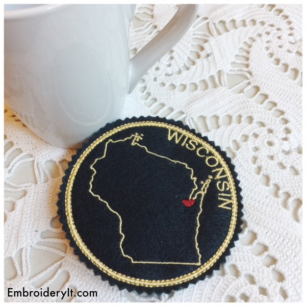 in the hoop Wisconsin machine embroidery pattern