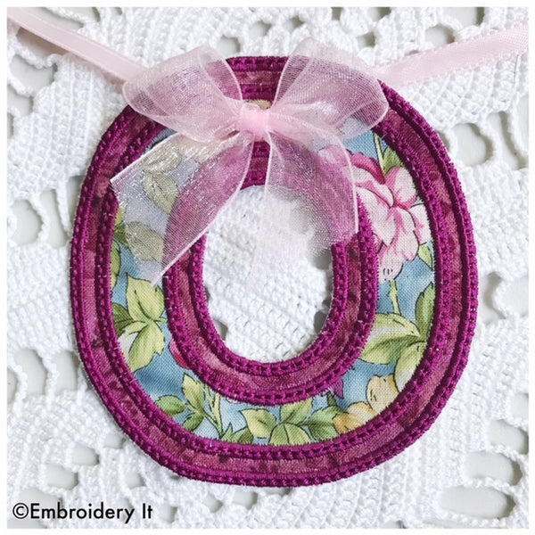 Machine Embroidery Banner Letter O