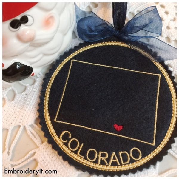 Machine embroidery Colorado Ornament