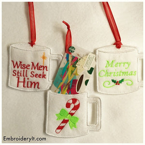 Gift Card Holders Christmas machine embroidery designs