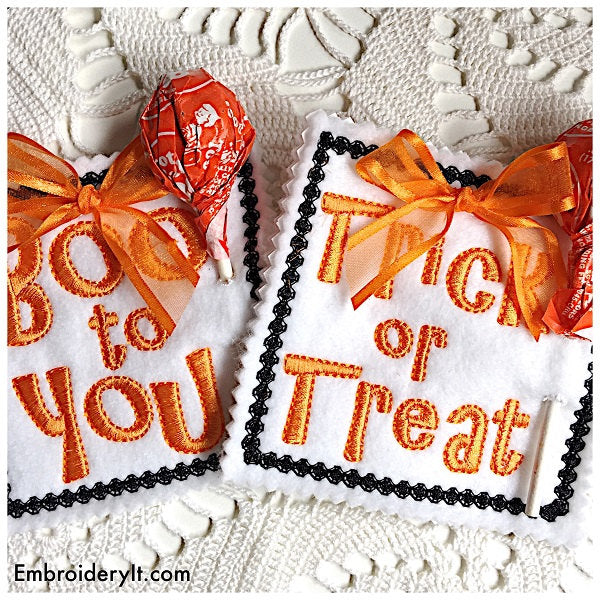 Machine embroidery Candy holder design