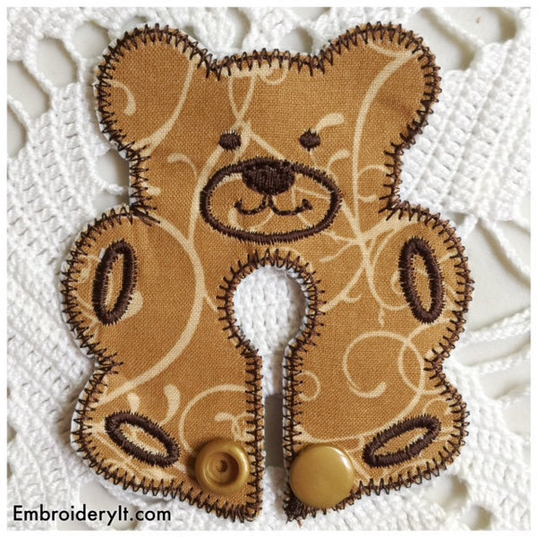 Machine Embroidery bear in the hoop g tube pad
