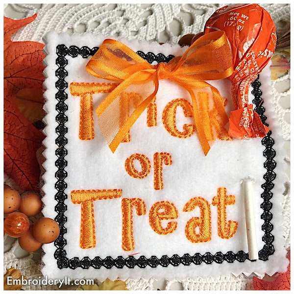 In the hoop machine embroidery Halloween designs
