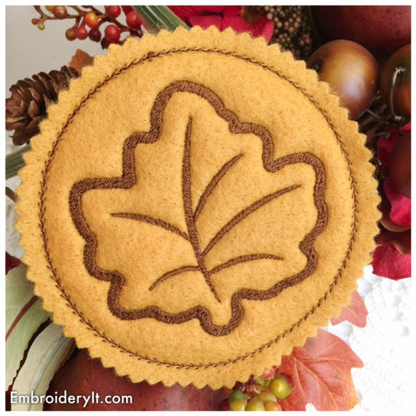 in the hoop maple leaf coaster