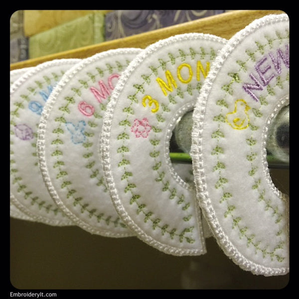 baby closet dividers machine embroidery designs