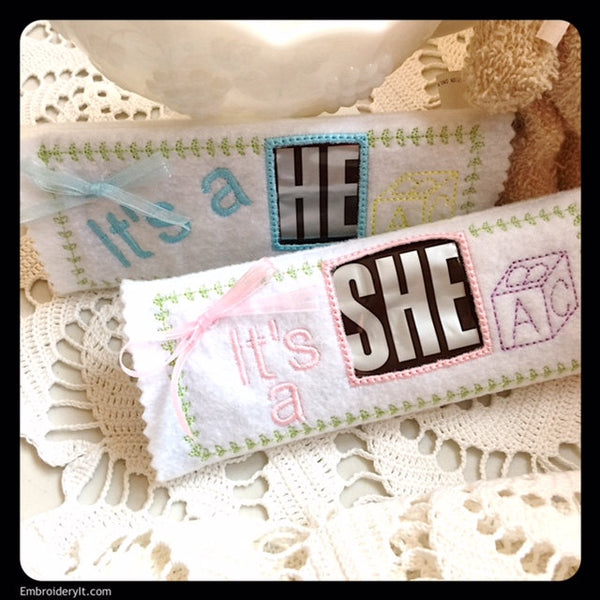 Hersheys candy bar baby wrappers