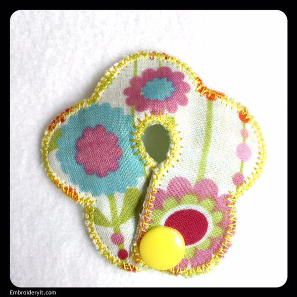 feeding tube machine embroidery flower design