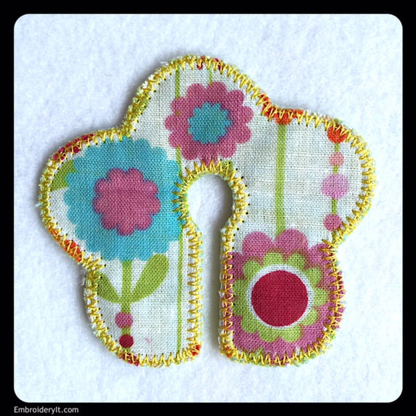 flower g tube pad machine embroidery design