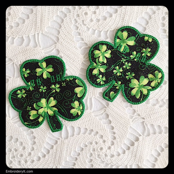 applique shamrock banner embroidery designs