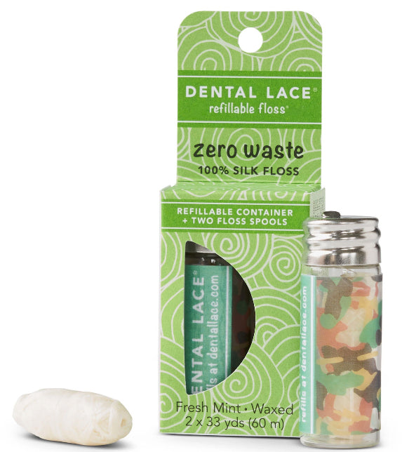 Zero Waste Refillable Silk Floss - Rugged Camo