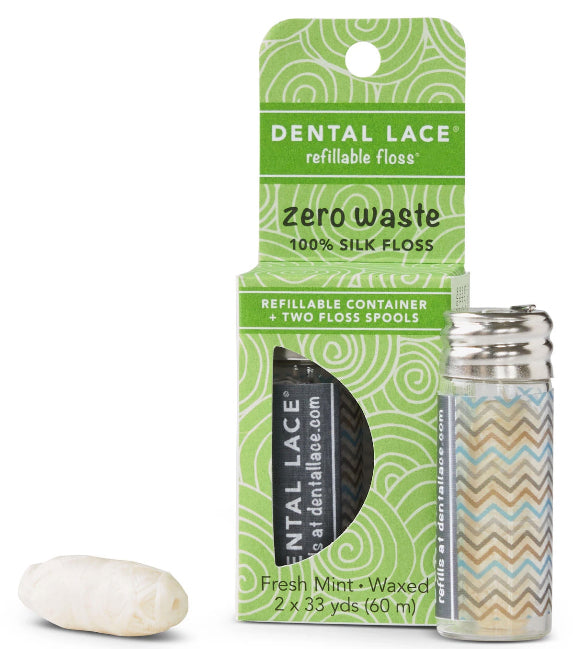 Zero Waste Refillable Silk Floss - Chevron