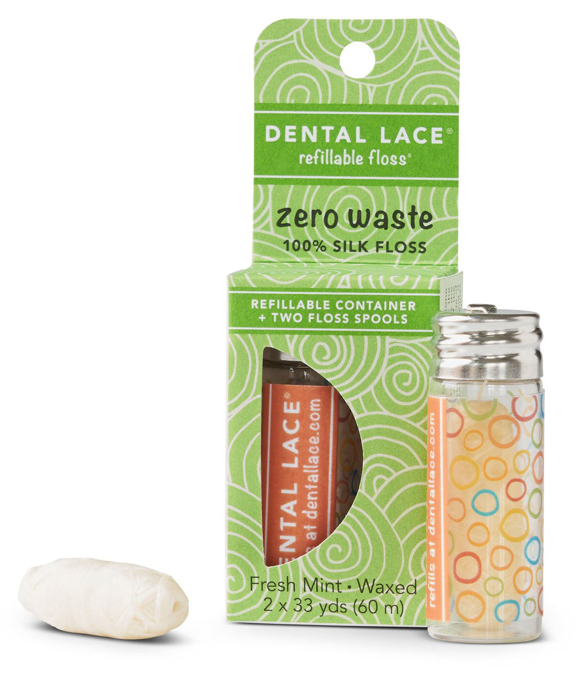 Zero Waste Refillable Silk Floss - Pumpkin Spice