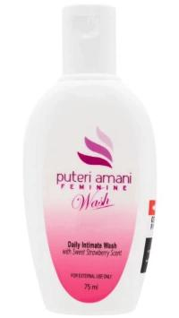 Puteri Amani Feminine Wash 75ml - Halal Feminine Wash For Odor - BUY 1 FREE 1