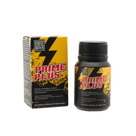Prime Plus Tablet with Gokshura Extract and Tocotrienol - Mango and Mint flavor.