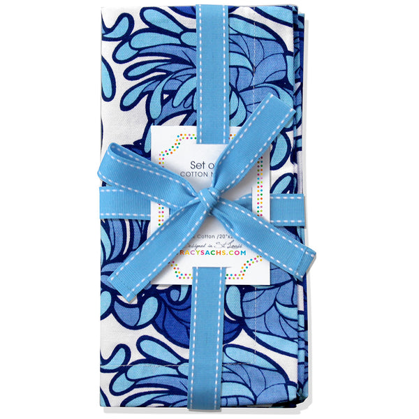 Blue Bloom Napkin - Set of 4