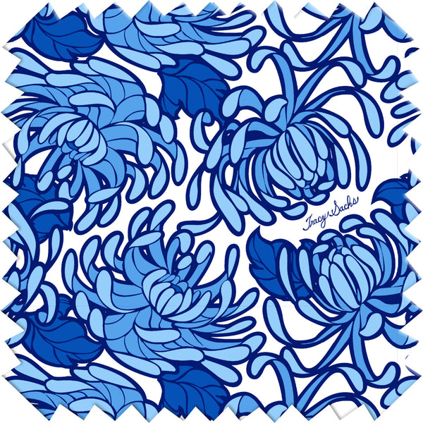 Blue Bloom Oven Mitt