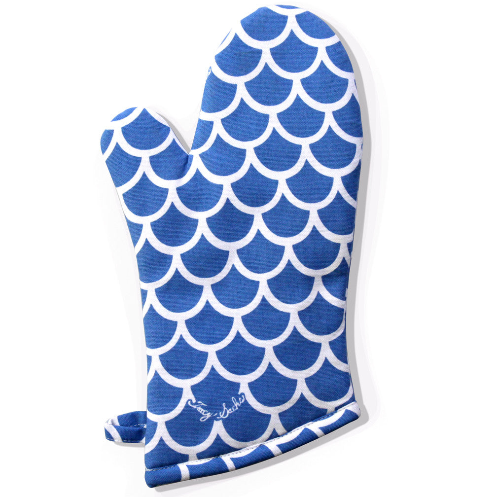 Blue Wave Oven Mitt