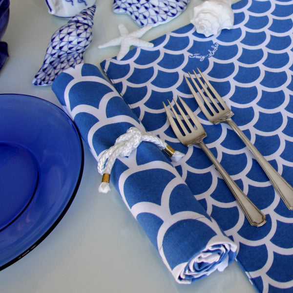 Blue Wave Napkin - Set of 4