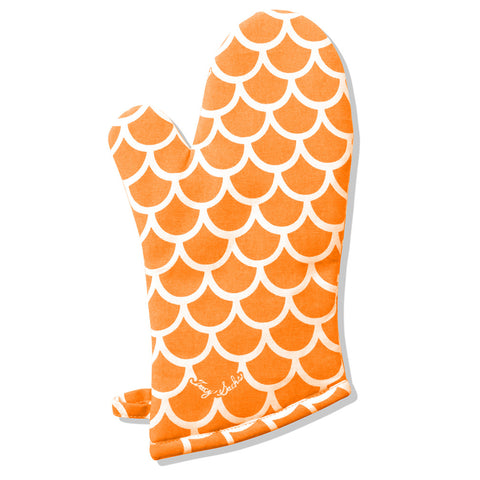 Orange Wave Oven Mitt