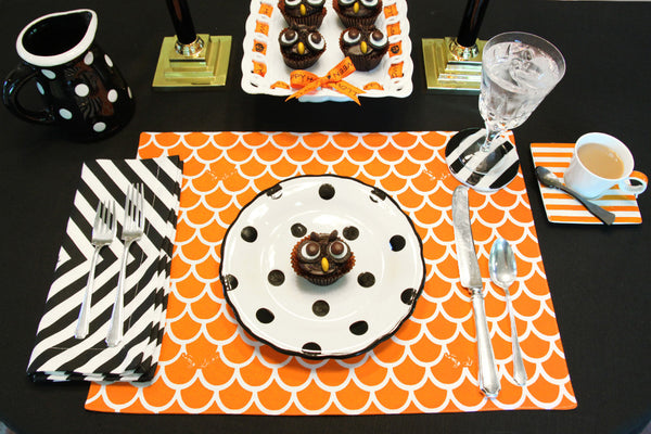 Orange Wave Placemat - Set of 4