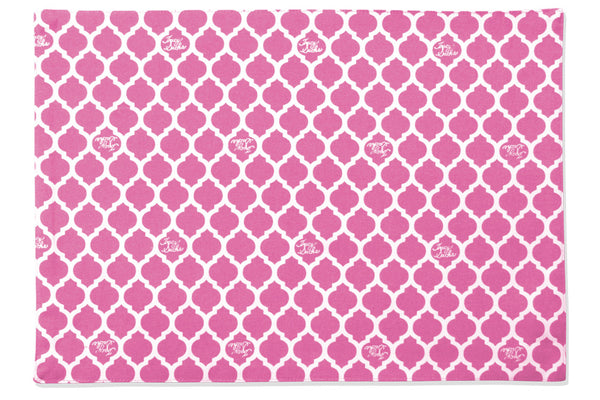 Pink Quatrefoil Placemat - Set of 4