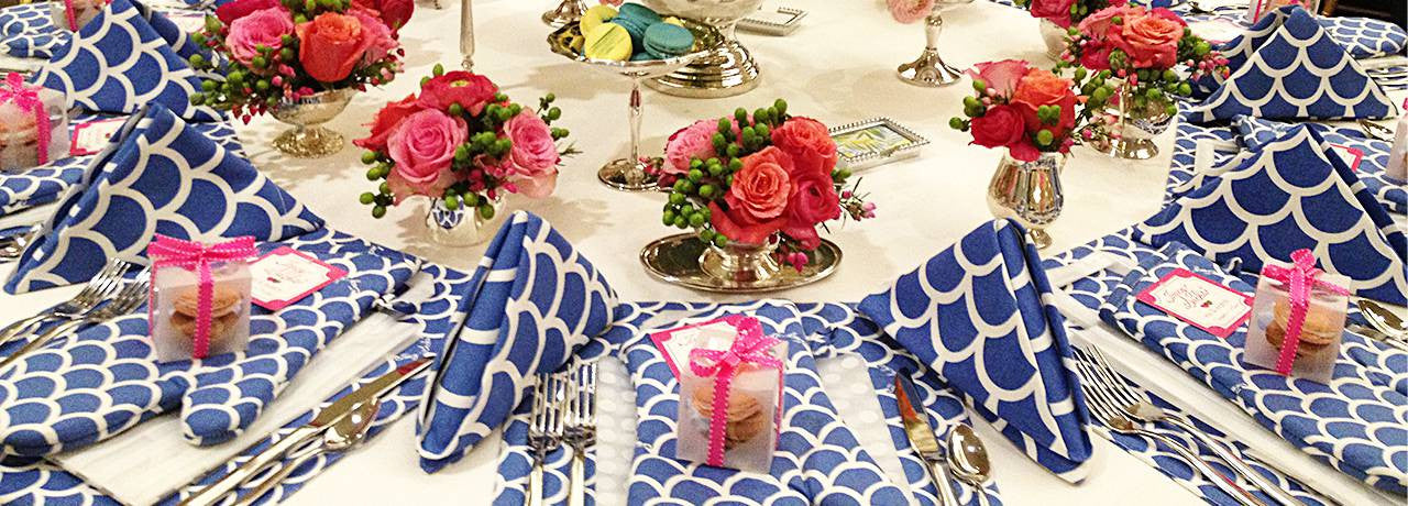 blue wave cloth napkins placemats oven mittens fall