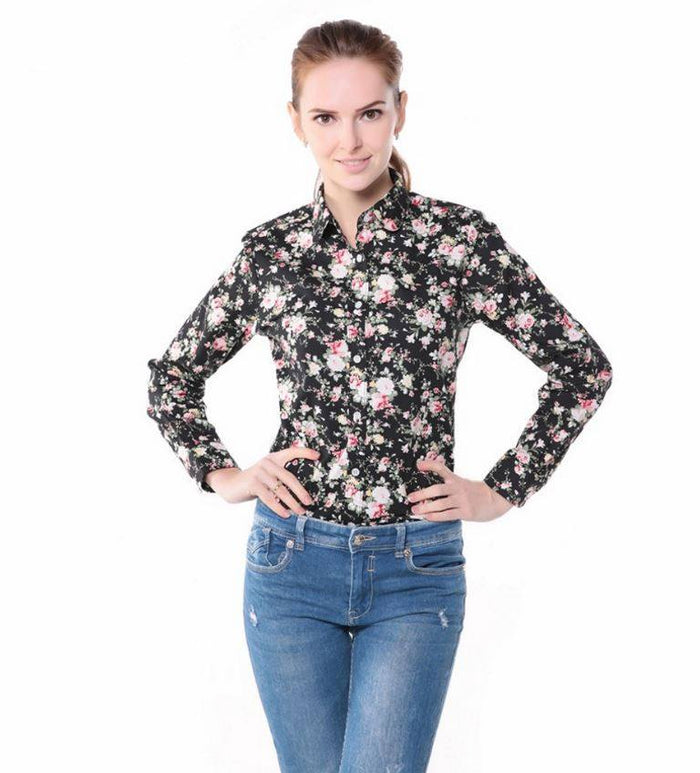 Dioufond Floral Vintage Blouse - fashion - Dnerds.com
