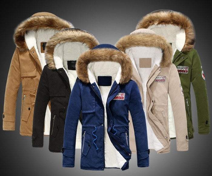 Fur Collar Thick Jacket -  - Dnerds.com