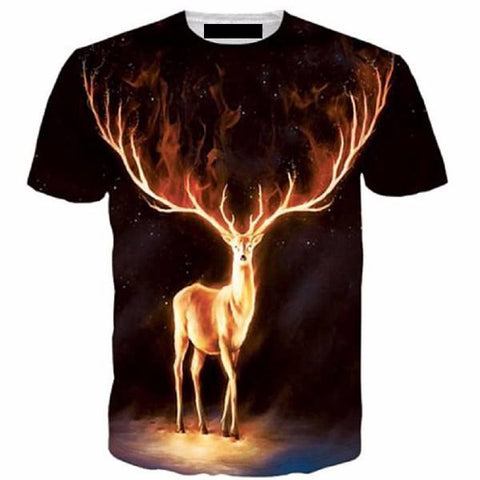 Flame deep 3D men's T-shirt -  - Dnerds.com