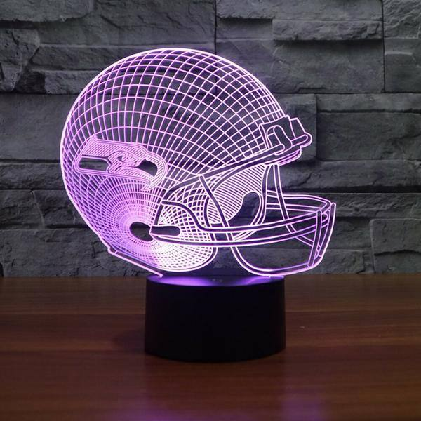 SEATTLE SEAHAWKS 3D LED LIGHT LAMP - Electronics & Gadgets - Dnerds.com
