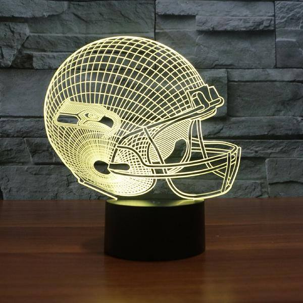SEATTLE SEAHAWKS 3D LED LIGHT LAMP