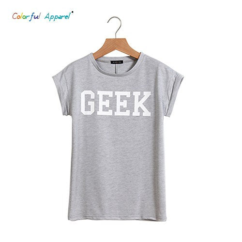 Colorful Geek Loose Letter T-shirt -  - Dnerds.com