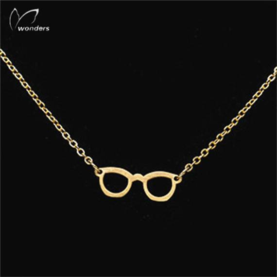 Geek Chic Eye Glasses Necklace Book Lover Gift