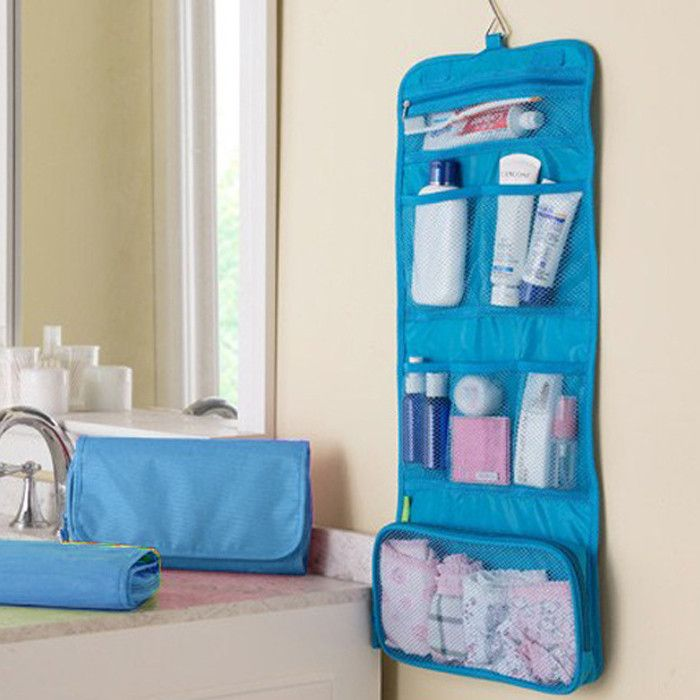 Foldable Travel Toiletry  Organizer - home - Dnerds.com