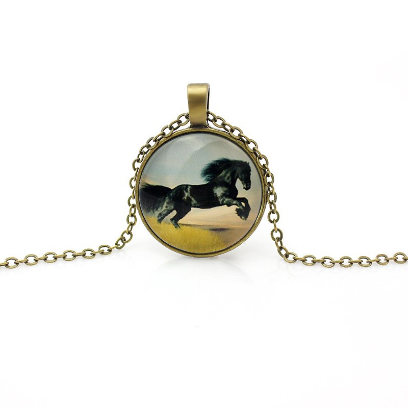 Vintage Gold Horse Necklace