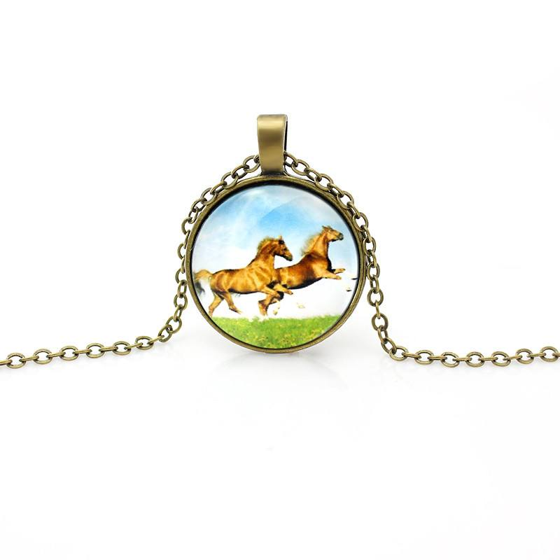 Vintage Gold Horse Necklace -  - Dnerds.com