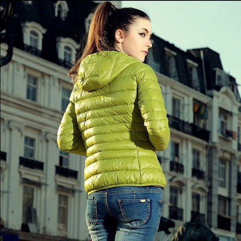 Cotton Hooded Women Jacket  for the Winter