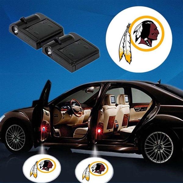 2  WASHINGTON REDSKINS WIRELESS LED CAR DOOR PROJECTORS