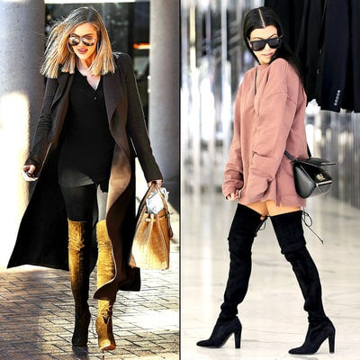 Khloe Kardashian, Kourtney Wear Over-the-Knee Boots