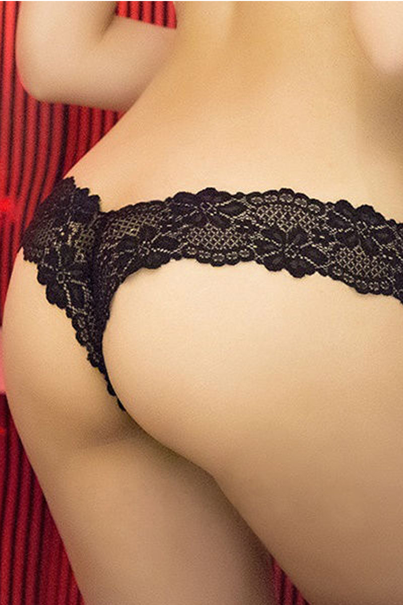 Seamless Lace Thong/G-String-Strings-Secret Closet