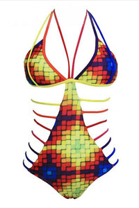 Multi-Strap Lace-Up Monokini-Monokini-Secret Closet