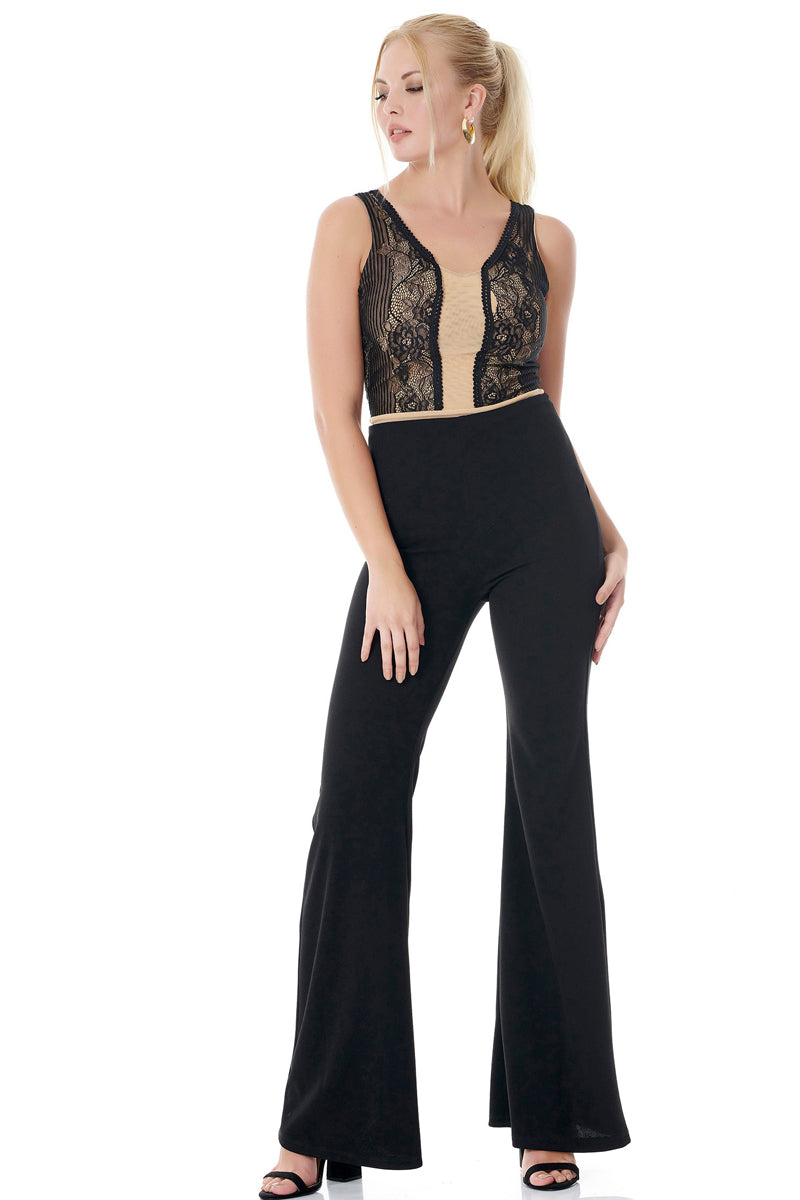 Elegant Bodysuit With Lace Detail-Bodysuit-Secret Closet