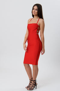 Sexy and Elegant Cutout Detail Bandage Dress-Dresses-Secret Closet