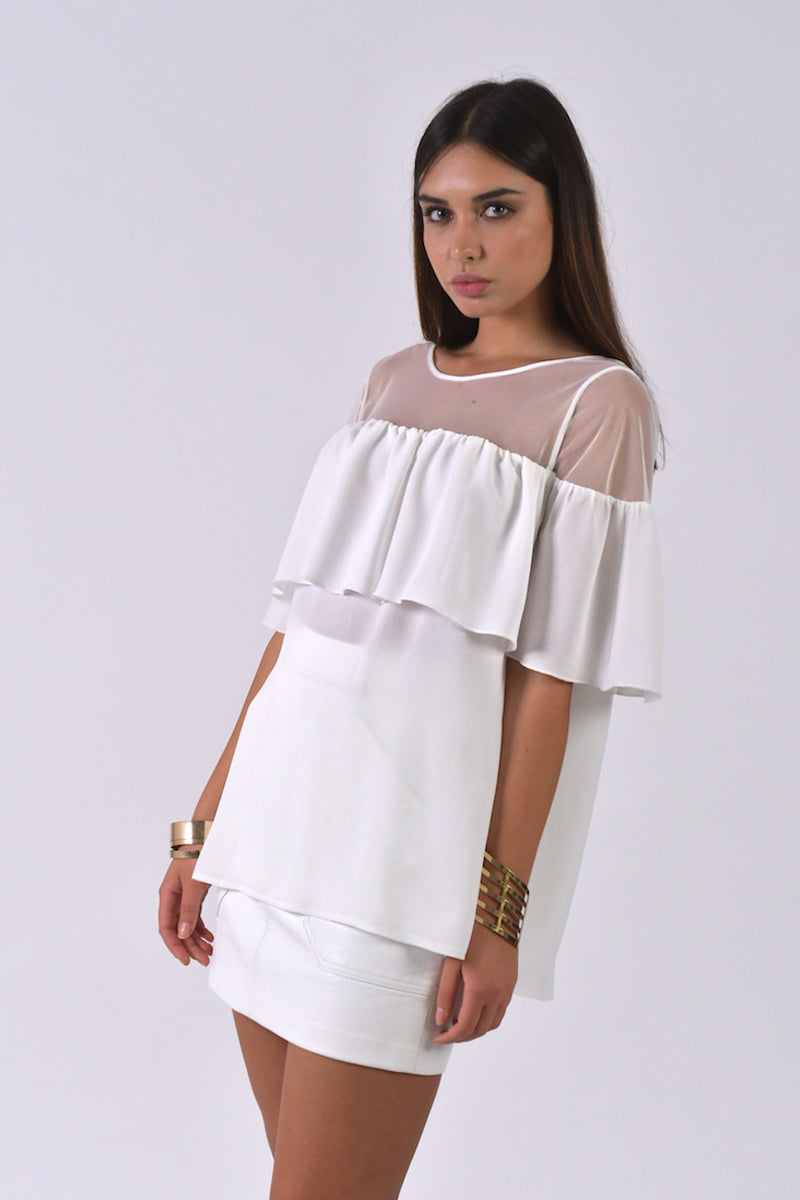 Elegant Top By Elisa Landri-Tops-Secret Closet