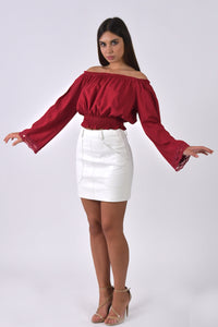 Long Sleeve Blouse-Tops-Secret Closet