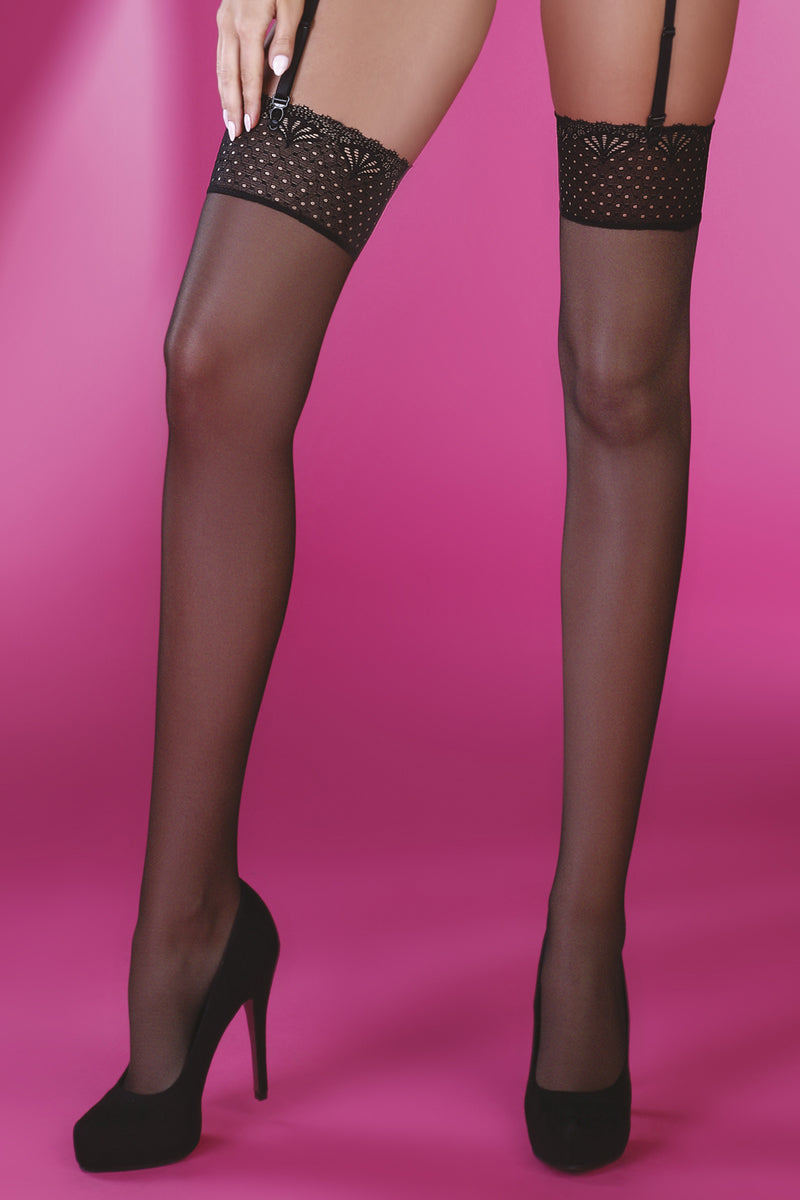 Giorgia - Richly Hemmed Lace Stockings-Stockings-Secret Closet