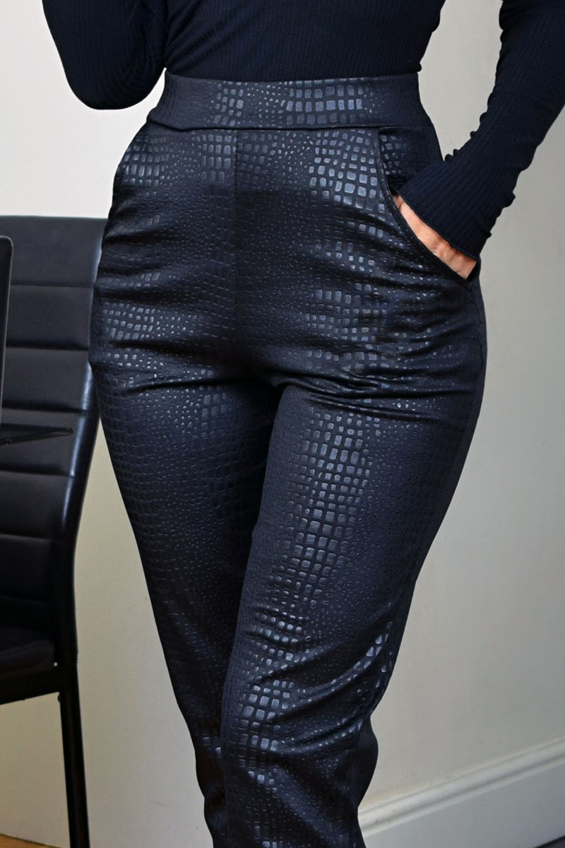 Chic High Waist Trousers-Pants-Secret Closet