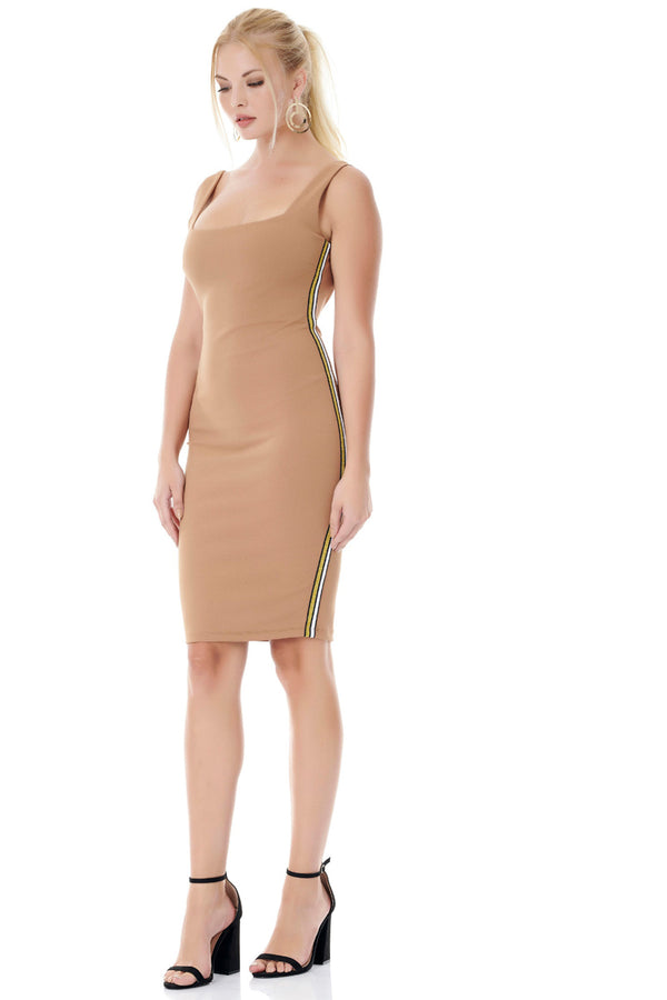 Bodycon Midi Dress-Dresses-Secret Closet